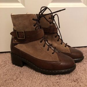 UGG Sassari Army Combat Ankle Brown Boots Size 6.5